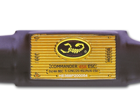Scorpion Commander 4S 45A ESC SBEC(V3)